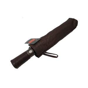 Compact Umbrella | Brown Alligator