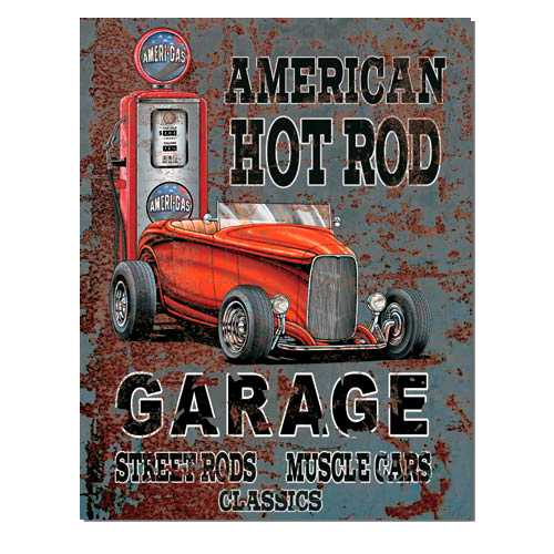 American Hot Rod Garage Retro