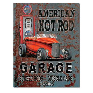 American Hotrod Tin Sign