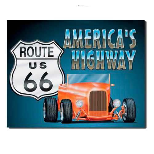 Route 66 Hotrod Sign