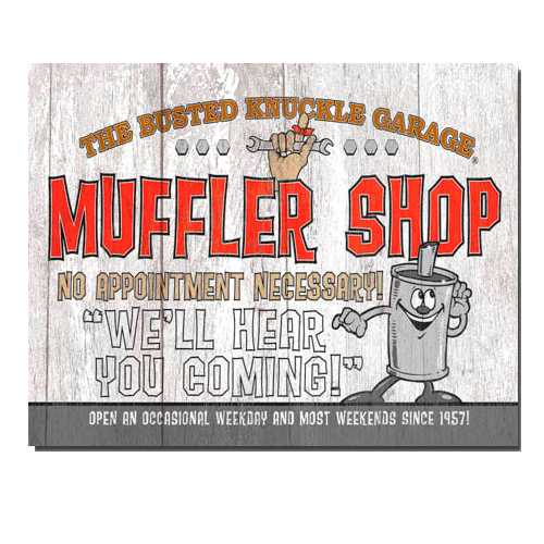 Muffler Shop Tin Sign