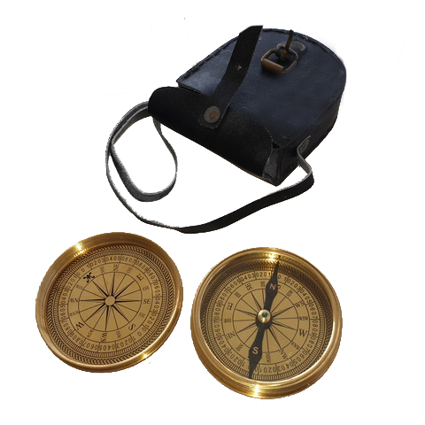 Boy Scout Compass with Leather Case