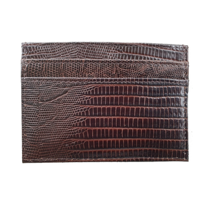 Lizard Credit Card Holder in Brown
