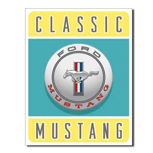 Classic Ford Mustang Sign