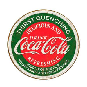 Cocacola Round Tin Sign