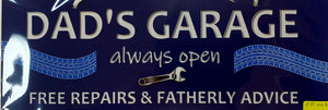 Dad's Garage Fathers Day Plaque