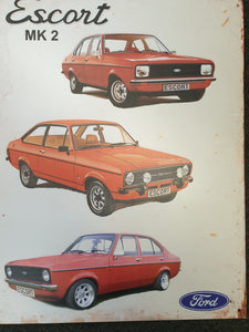 Escort Mk II Tin Sign