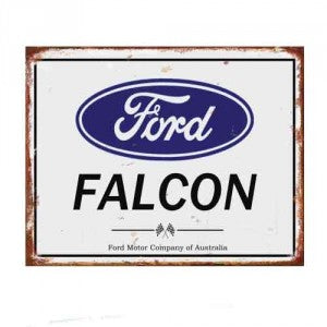 Falcon Tin Sign