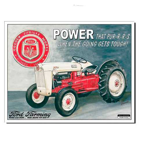 Ford Tractor Tin Sign
