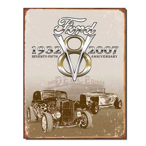 1932 - 2007 Ford V8 Tin Sign