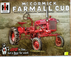 Farmall Tractor Tin Sign
