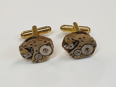 Gold Watch Movement Cufflinks