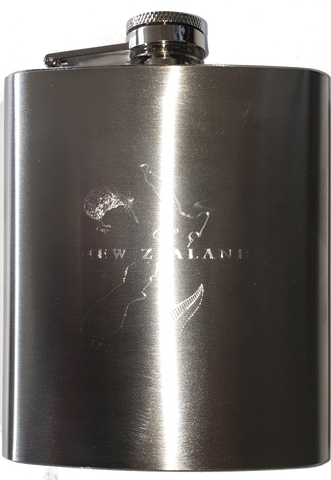 Hip Flask with New Zealand Design.