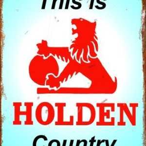 This is Holden Country Tin Sign