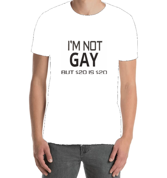 I'm Not Gay But $20 Is $20 - Tee Shirt - Sweat Shirt - Hoodie