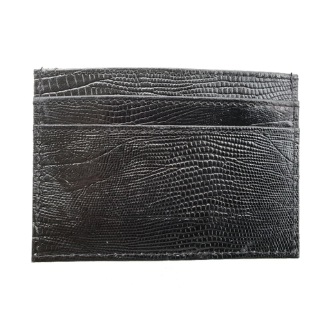 Lizard Credit Card Holder in Black