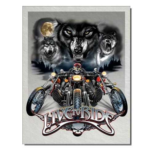 Live to Ride Tin Sign