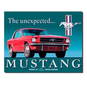 Mustang 'The Unexpected'Tin Sign