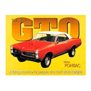 Pontiac GTO Tin Sign