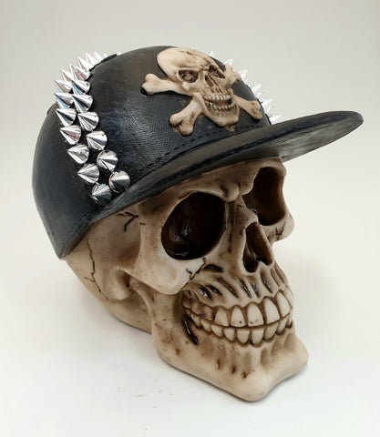 Skull in Spiked Cap