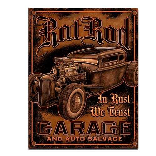 Ratrod Garage Tin Sign