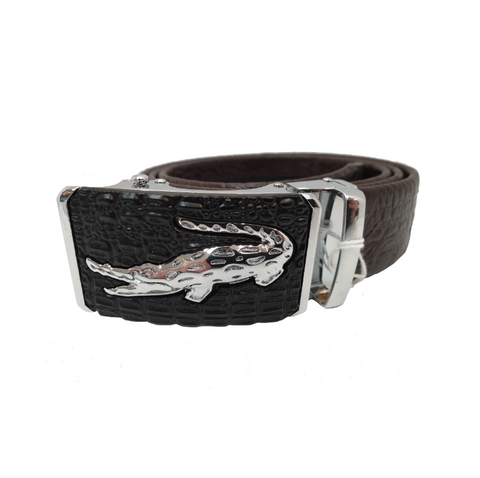 Silver Alligator Mens Belt