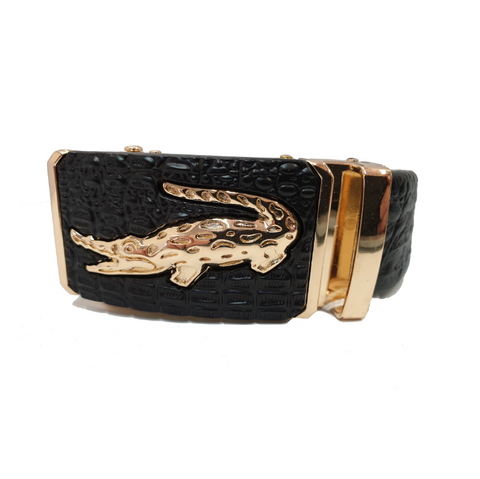 Gold Alligator Mens Belt