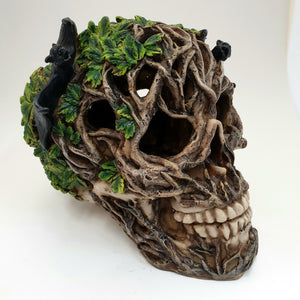 Skull with Bats and Tree Roots