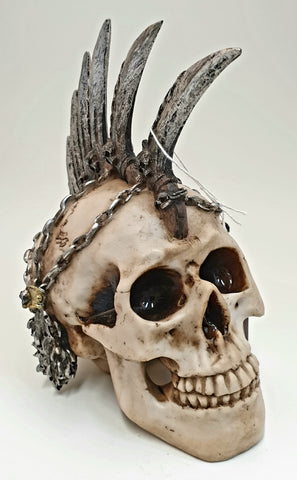 Punk Skull with Spikes and Chains