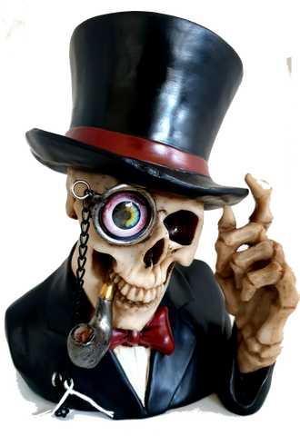 Steampunk Skull with Top Hat