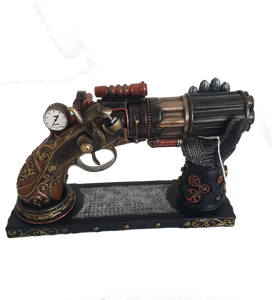 Steampunk Pistol with cradle