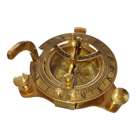 Brass Compass with Wooden Box
