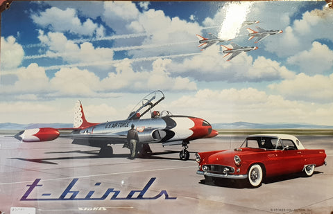 Thunderbirds Together Tin Sign