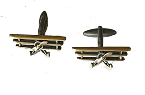 Bronze Toned Triplane Cufflinks