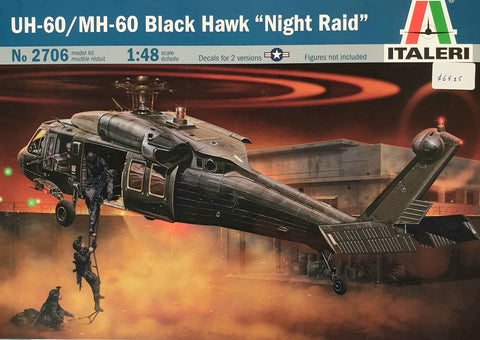 "UH-60 MH 60 Black Hawk ""Night Raid"" Plastic Model Kit"