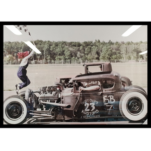 Vintage Dragracers in Action (Unframed)