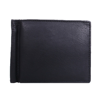 Avenue Black Wallet with Money Clip