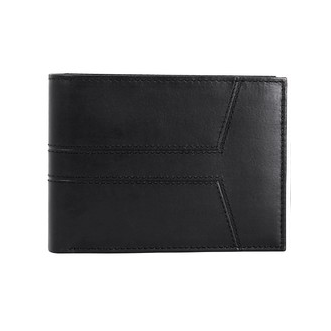 Chevron Mens Black Leather Wallet