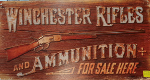 Winchester Rifle Tin Sign