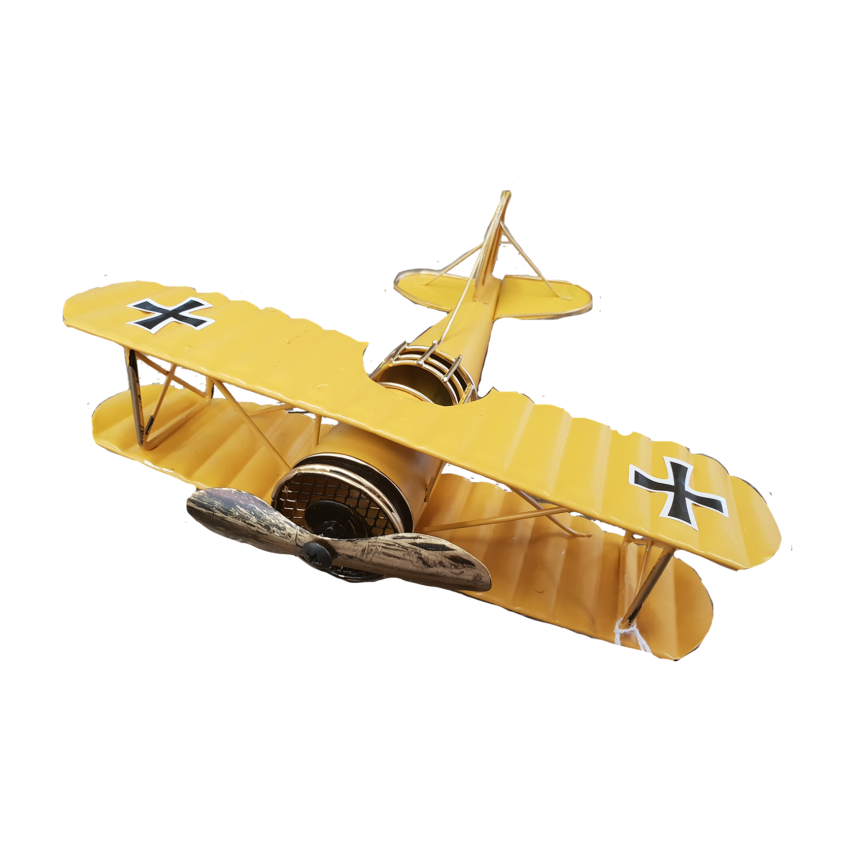 Yellow Tin Biplane
