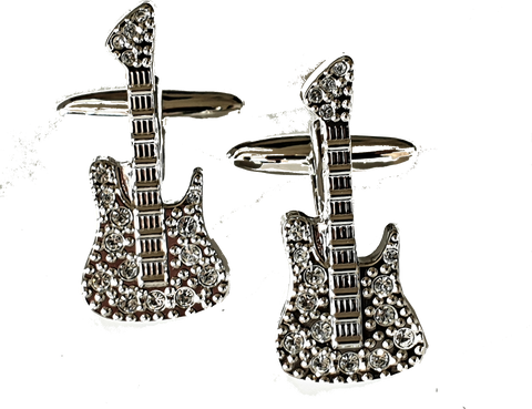 Studded Guitar Cufflinks