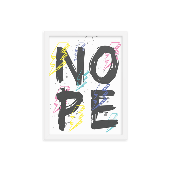NO PE Framed poster