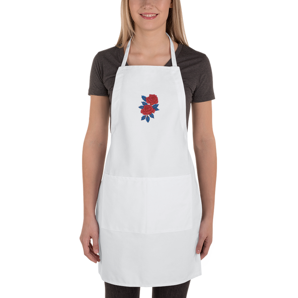 Rose Embroidered Apron