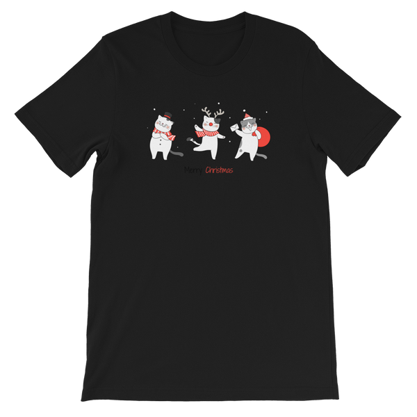 Christmas Cats premium Short-Sleeve Unisex T-Shirt