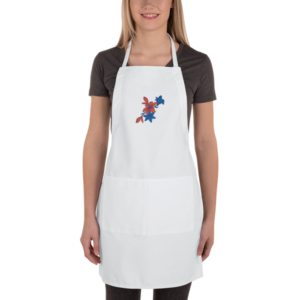 Flower Embroidered Apron