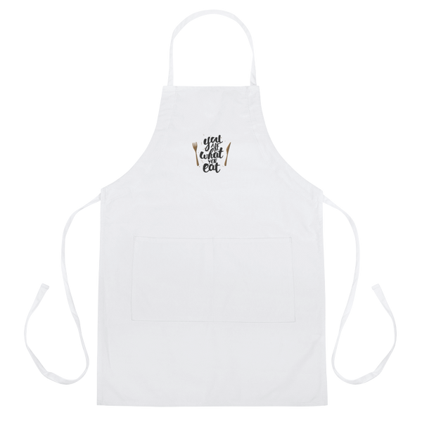 You are what you eat Embroidered Apron