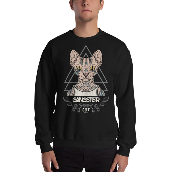 Gangster Cat Premium Unisex Sweatshirt