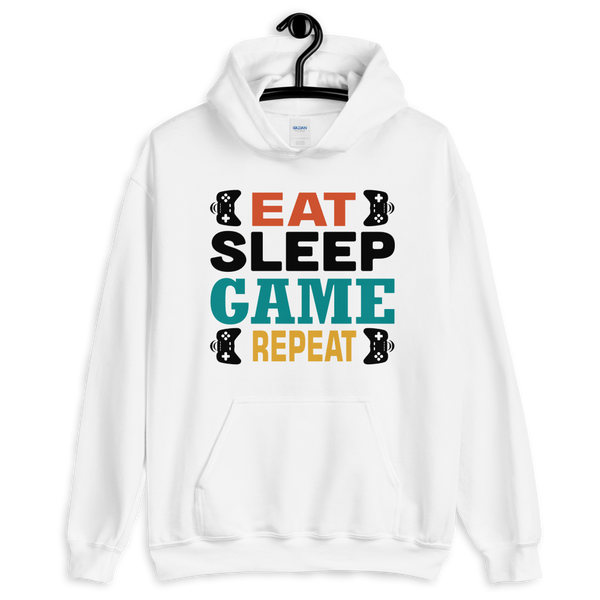 "Eat Sleep Game Repeat ""Premium Unisex Hoodie"""