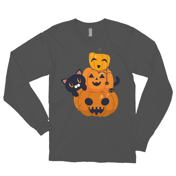 Pumpkin cat premium Long sleeve t-shirt