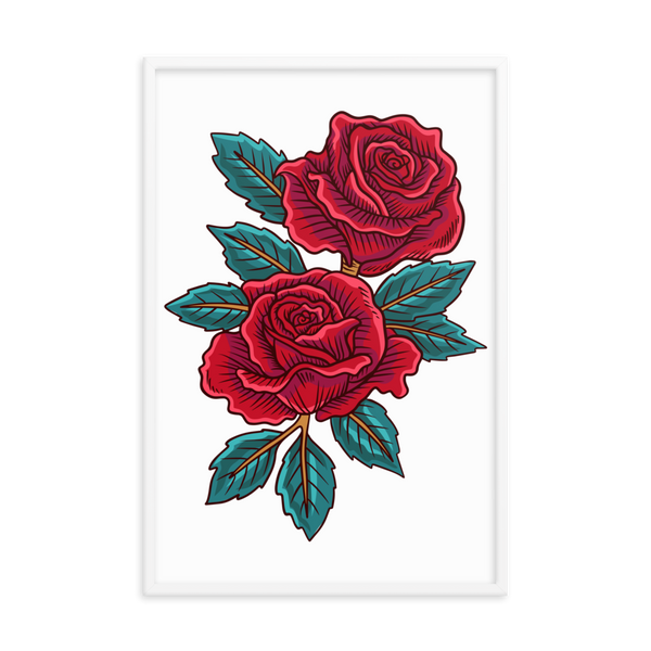 Red rose Framed poster